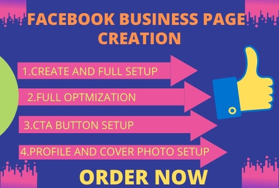 I will create a Facebook business page and optimization