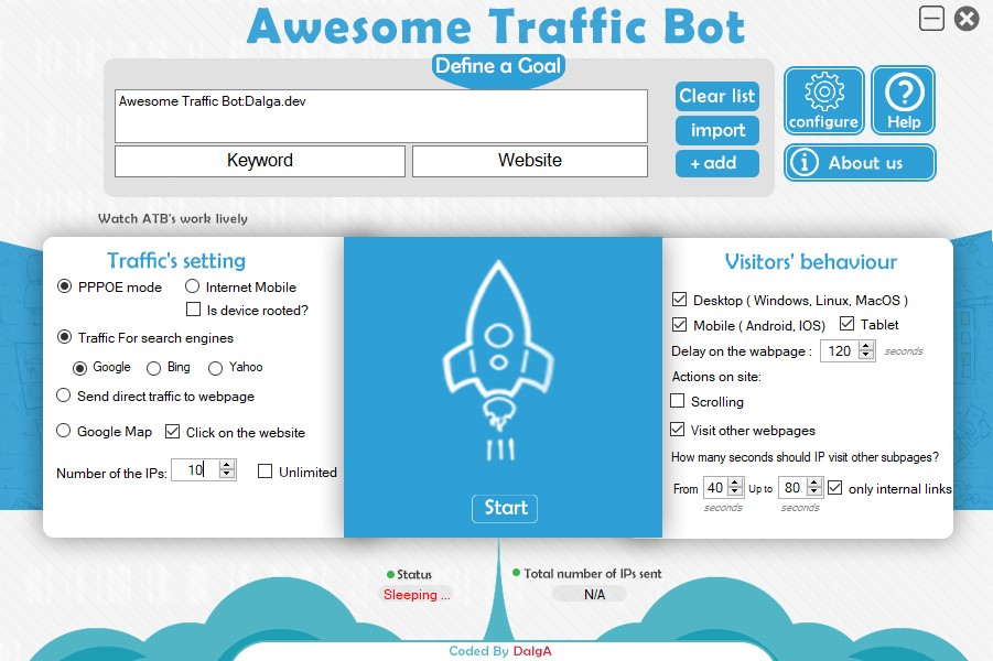 Awesome Traffic Bot - Without using Proxy & VPN