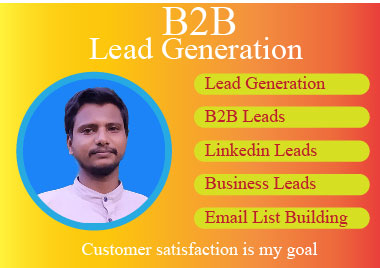 I will do b2b lead generation,  web research and build targeted email list