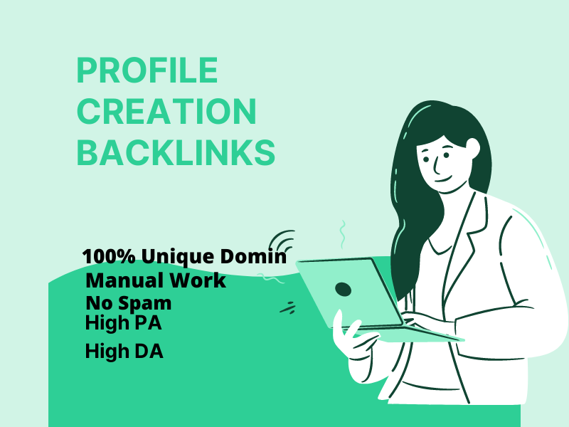 I will do 50 high authority profile creation backlinks