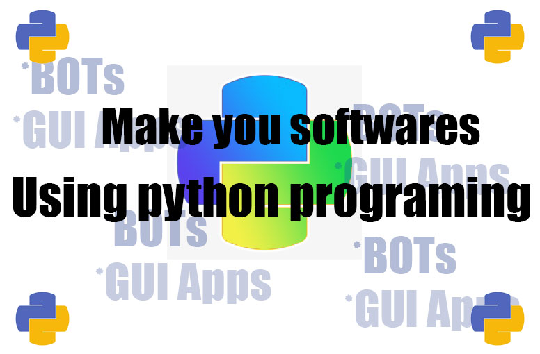 I can make you a software GUI applications included and BOTS with python programimg,  Make you BOTS