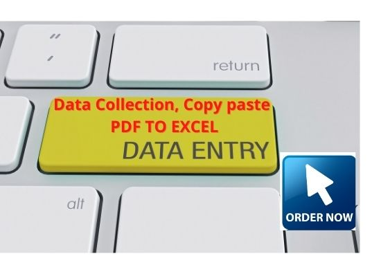 I will do your Data entry, Copy and paste and web research