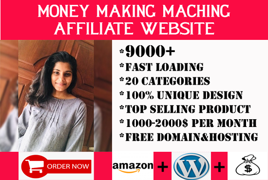 i will build money making amazon affiliate website with 9000 hot products