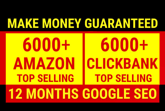 I will create money making amazon affiliate website and click bank affiliate website