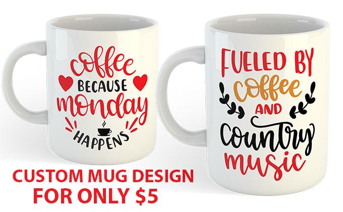 I will make custom mug design in 12hrs