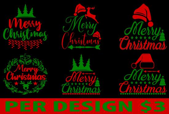 I will do creative Christmas t-shirt design