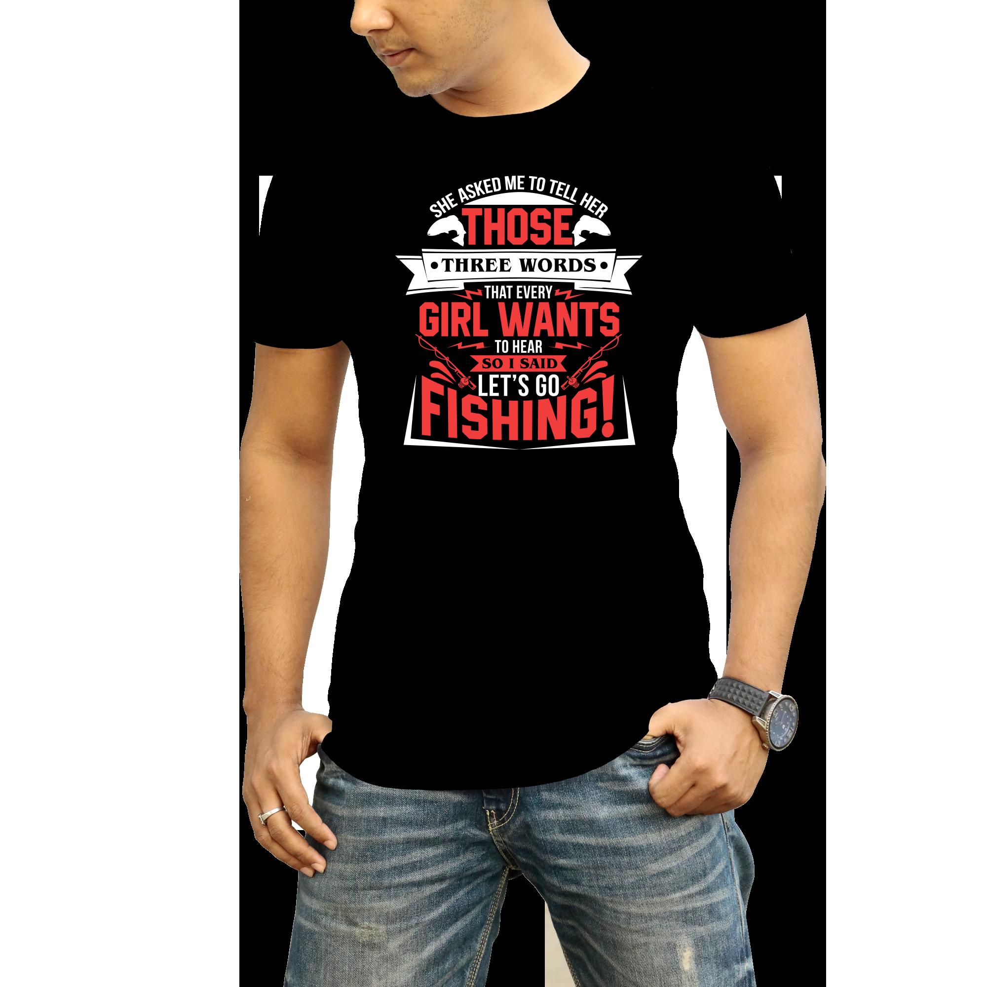 I will make fishing T-shirt design