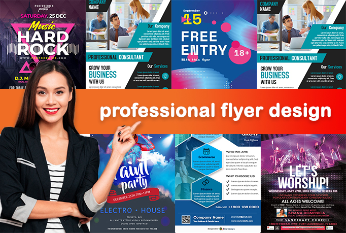 I will do professional flyer, poster or brochure design for you