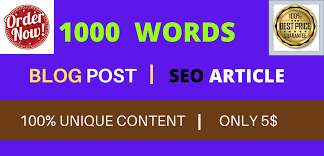 I will write 1000 words SEO optimized and unique article/content