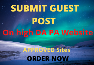 I will publish your quality Guest post on Top 10 sites