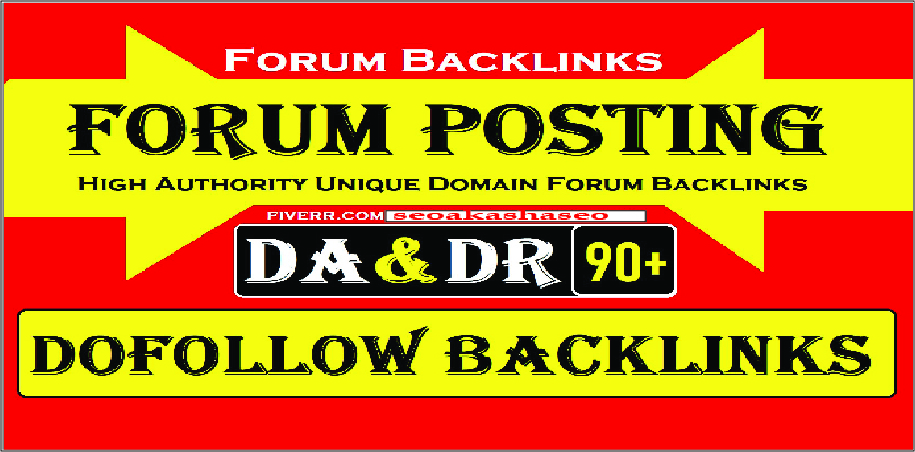 DOFOLLOW 40 Forum backlinks DA 50+ for Search Rankings
