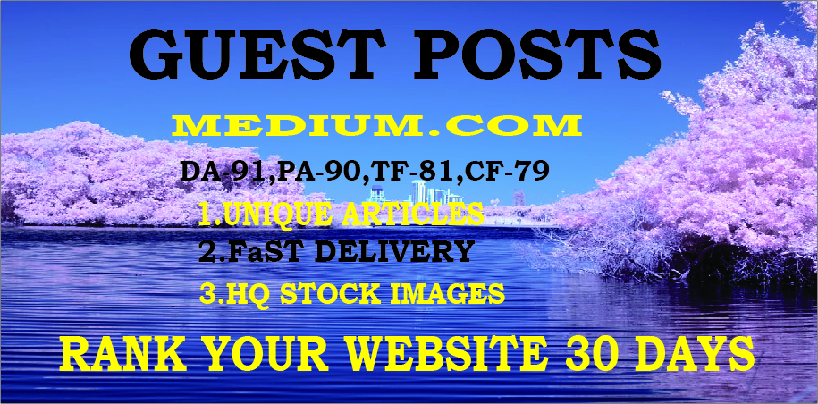 Write and Publish High Quality Guest post on Medium. com - DA96 PA81