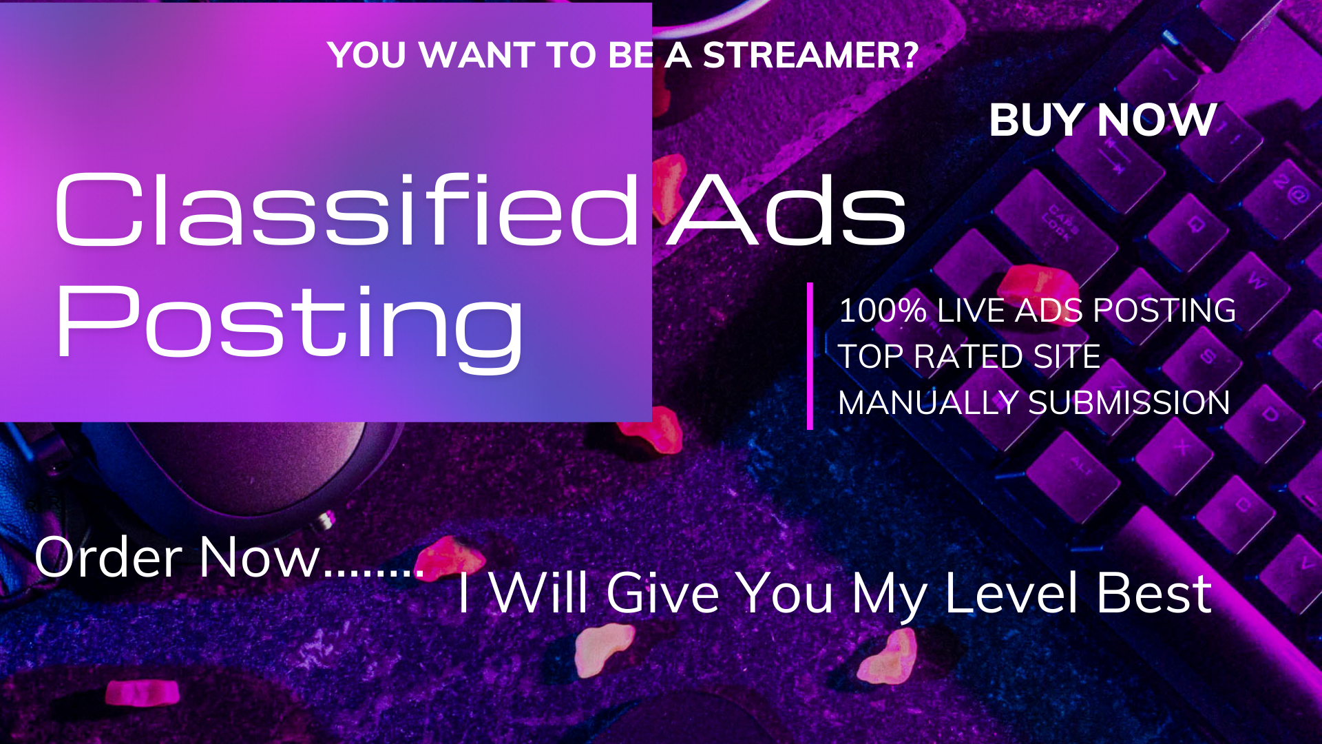 I will do 100 classified ads posting for your website ranking,  heavy traffic of google site-