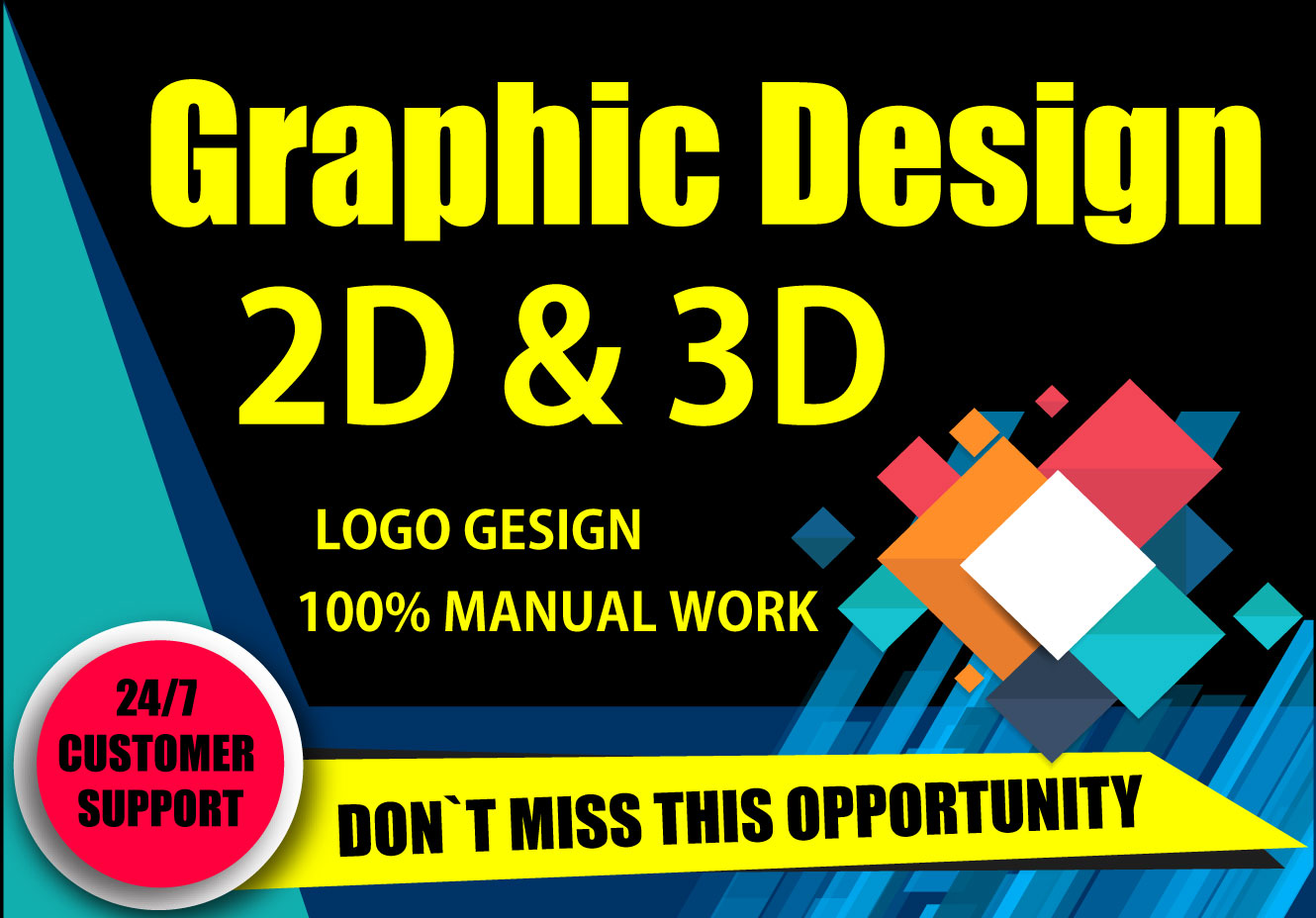 I will be your professional and creative logo maker and Graphic Designer 2d & 3d