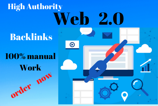 Manual 30 Web2.0 Property permanent backlinks unique link building boost your ranking