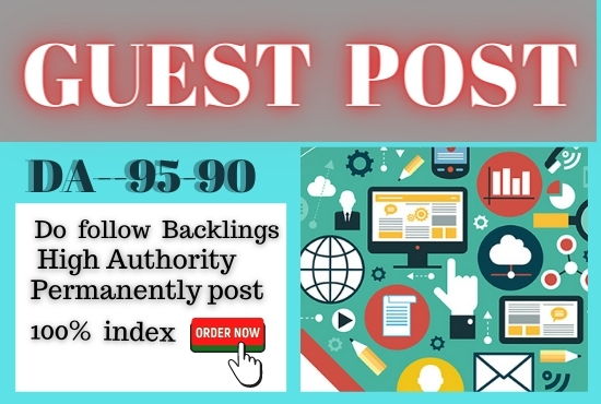 Write and Publish 5 Guest Post high quality unique words contextual backlink
