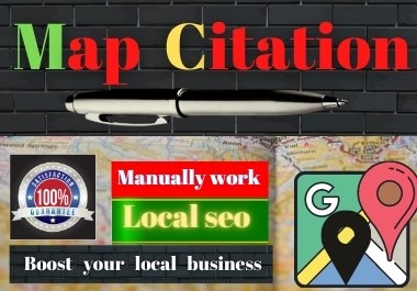Manual 250 Google Maps Citation Permanents backlinks rank first page