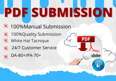 20 best PDF submission permanent backlinks low spam score website high authority backlinks