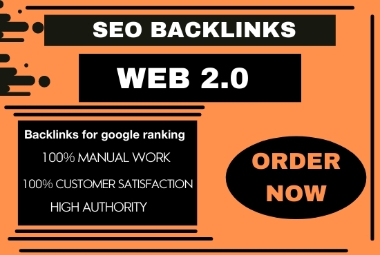 I will build 30 super authority web 2.0 permanent backlinks