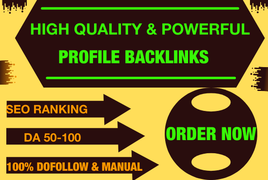 I will do 30 high da profile backlinks manually for SEO ranking