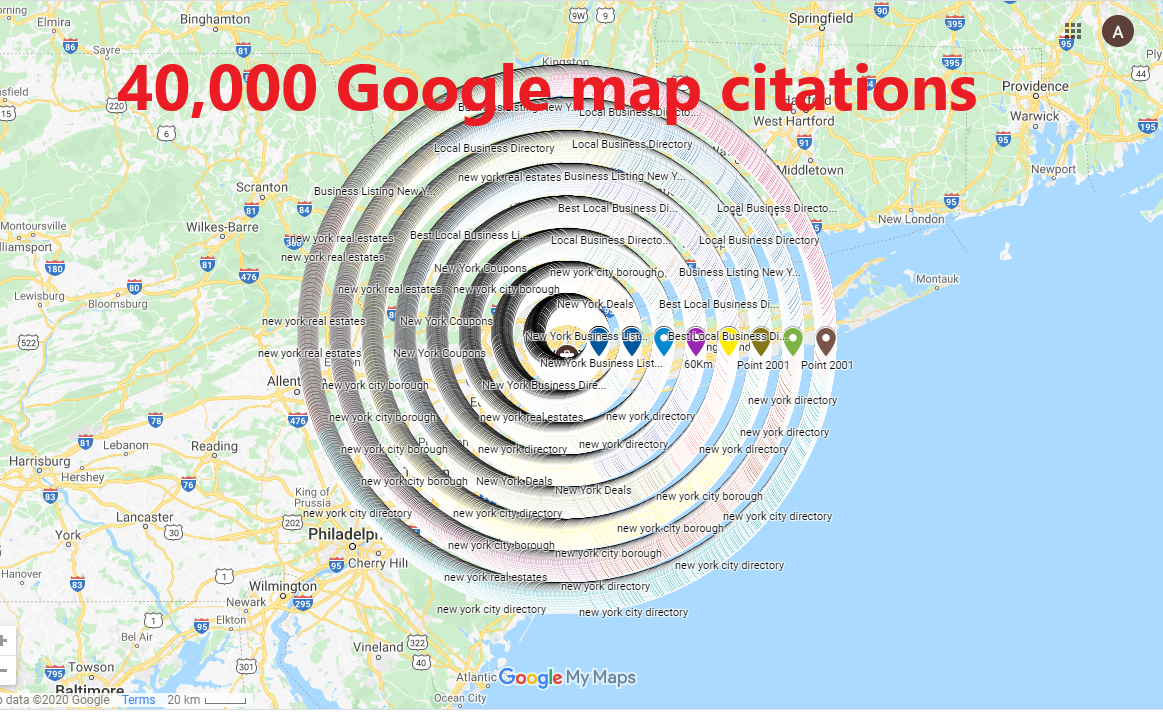 I will do 40,000 Google map citations for your local seo