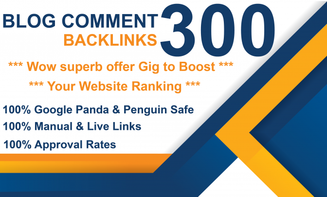 Create 300 blog comments backlinks on actual page