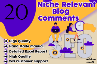 I will Creat 20 Niche Relevant Blog Comment