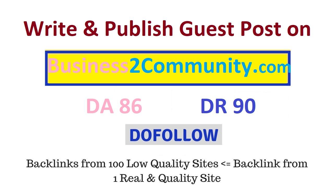 Publish Permanent Dofollow Article on Business2Community