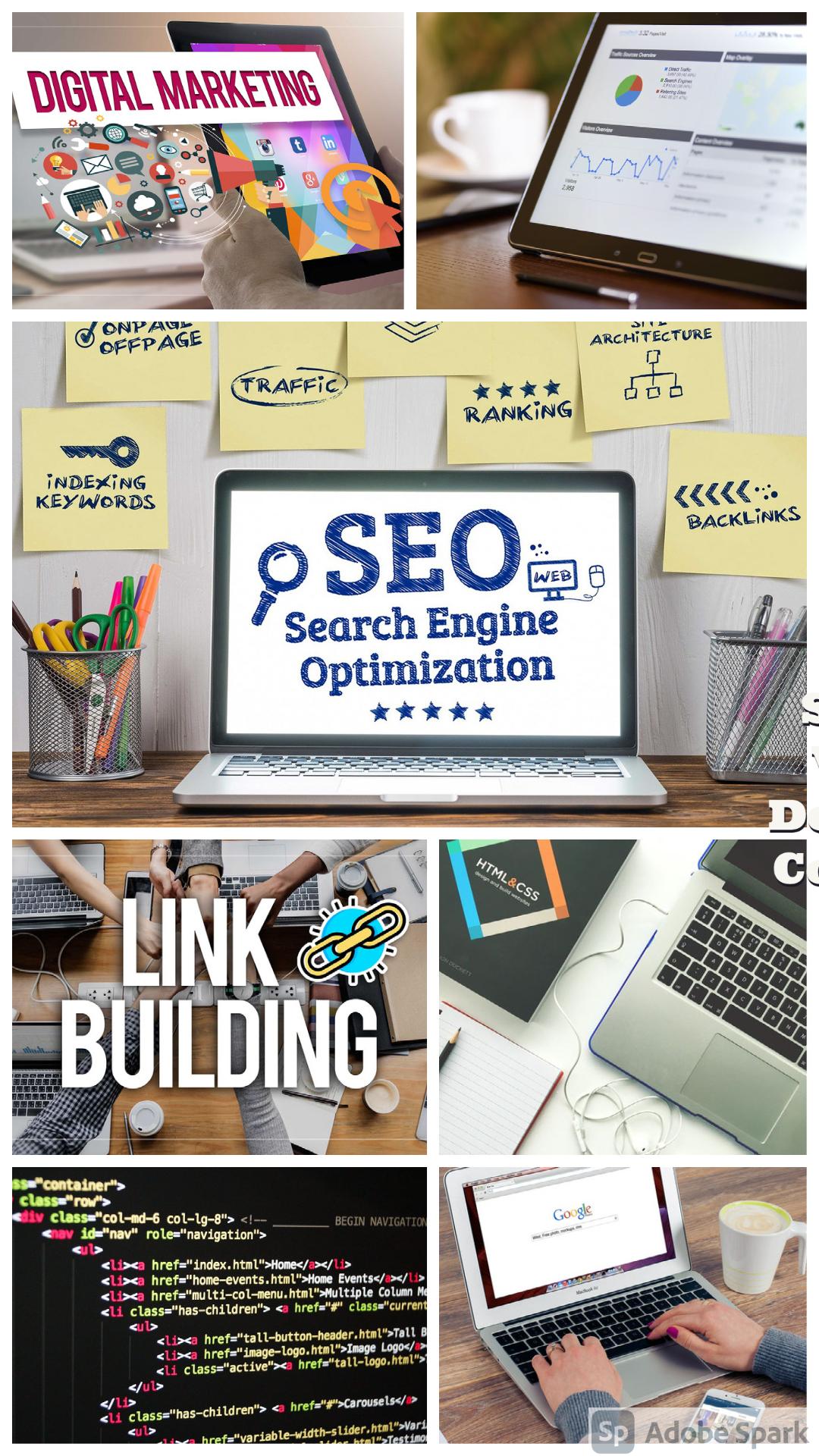 High quality SEO,  Website Design,  Website Design,  Content Marketing,  Copywriting,  Link Building
