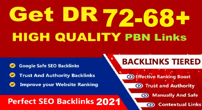Creat 4 Google News Approved DR 72 to 68+ Dofollow Homepage PBN backlinks