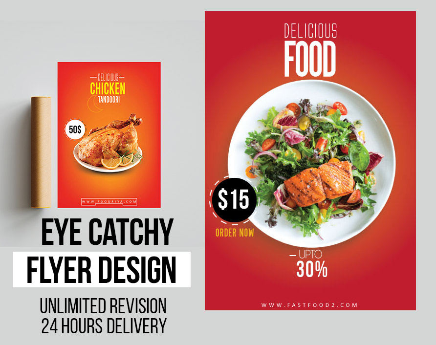 I will design clean creative fast food and business flyer in 24 hours