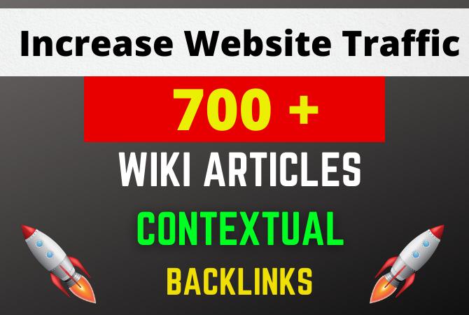 700+ wiki article contextual seo backlinks service