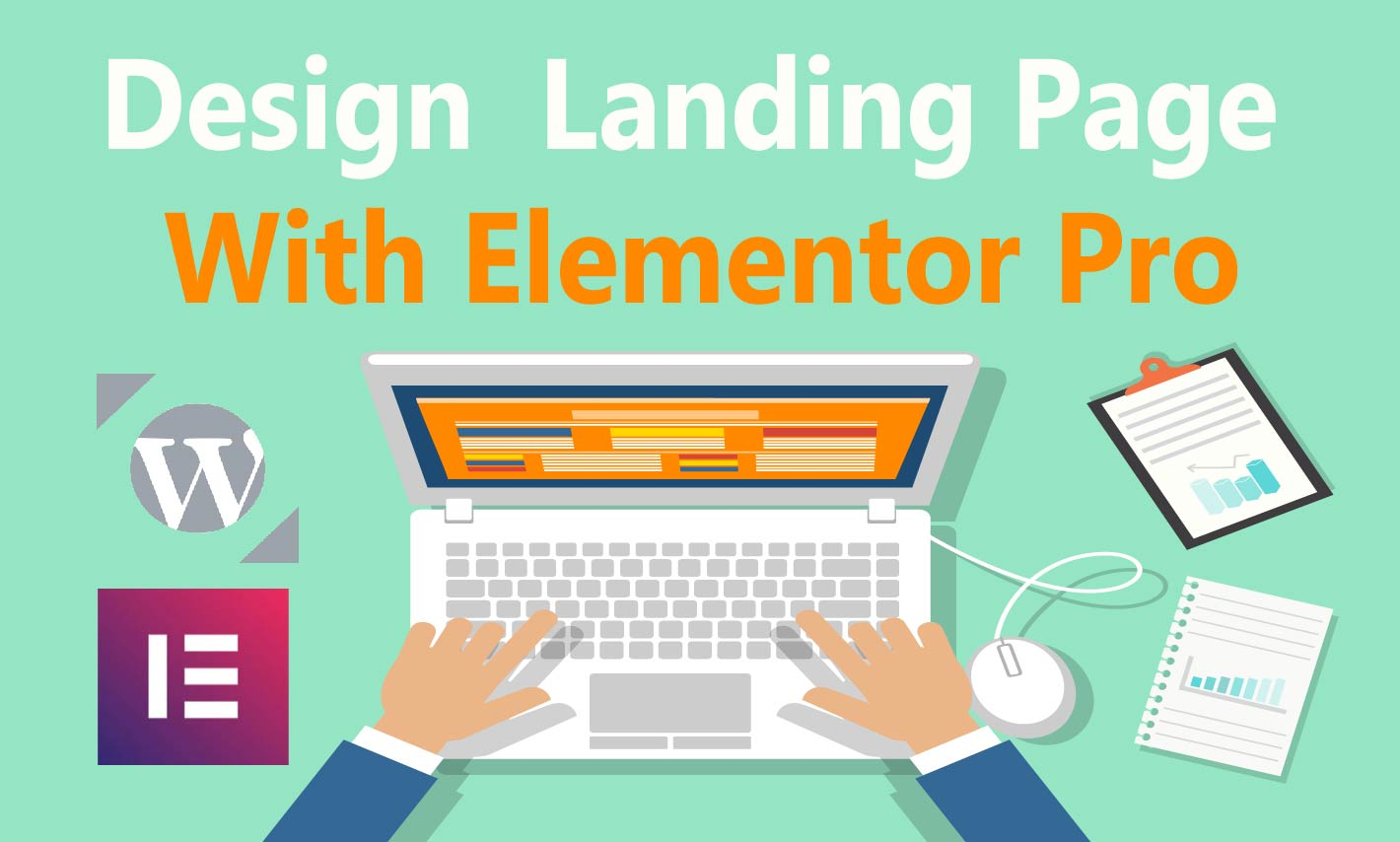 I will design a landing page,  squeeze page or wordpress website with elementor pro