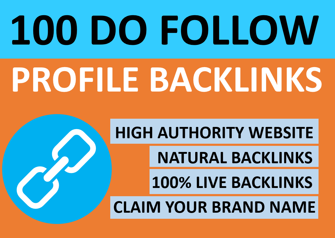 Manually Create 100 High Authority Profile Backlinks for Google Ranking