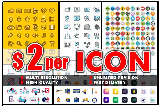 I will design awesome web icon set