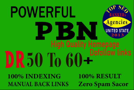 I will Create 10 Manual White hat SEO Backlinks Service 50 to 60+