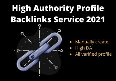 High Authority 200 profile backlinks DA 80+ for SEO ranking