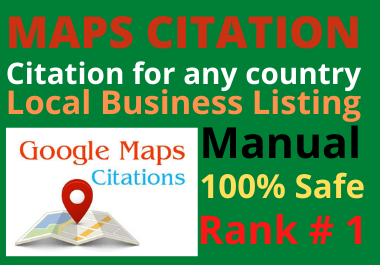 Manual 150 Google Maps Citation permanent backlinks bring more traffics