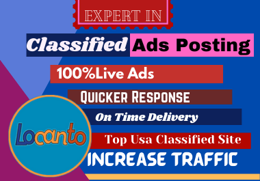 I will do 50 high quality classified site add posting
