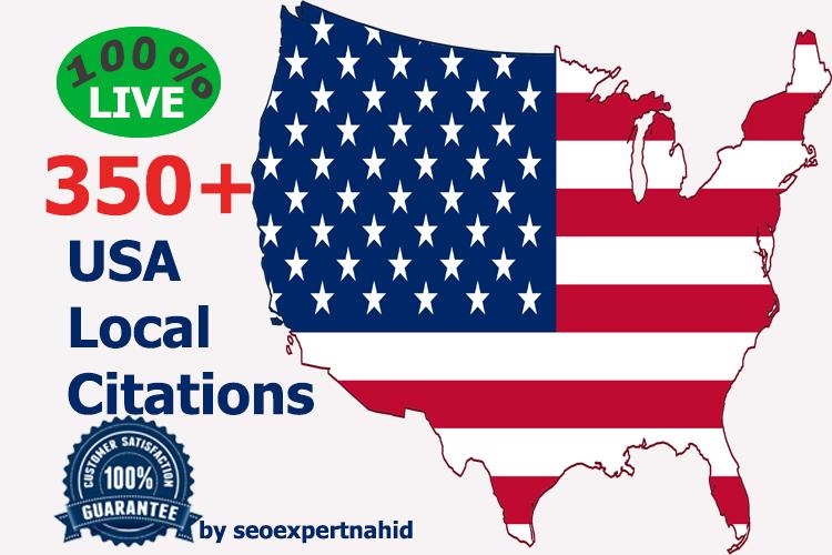 Build 350+ Live Local Citation for USA Local Business Listing