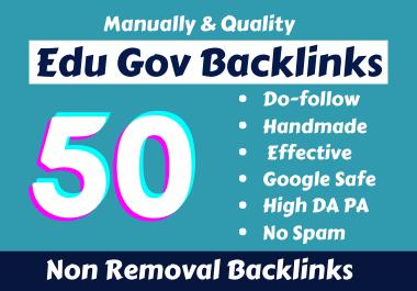 Handmade 50 Edu Gov Backlinks From High Authority Websites