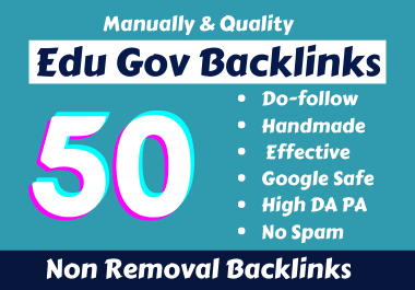 Handmade 50 Edu Gov Backlinks From High Authority Websites