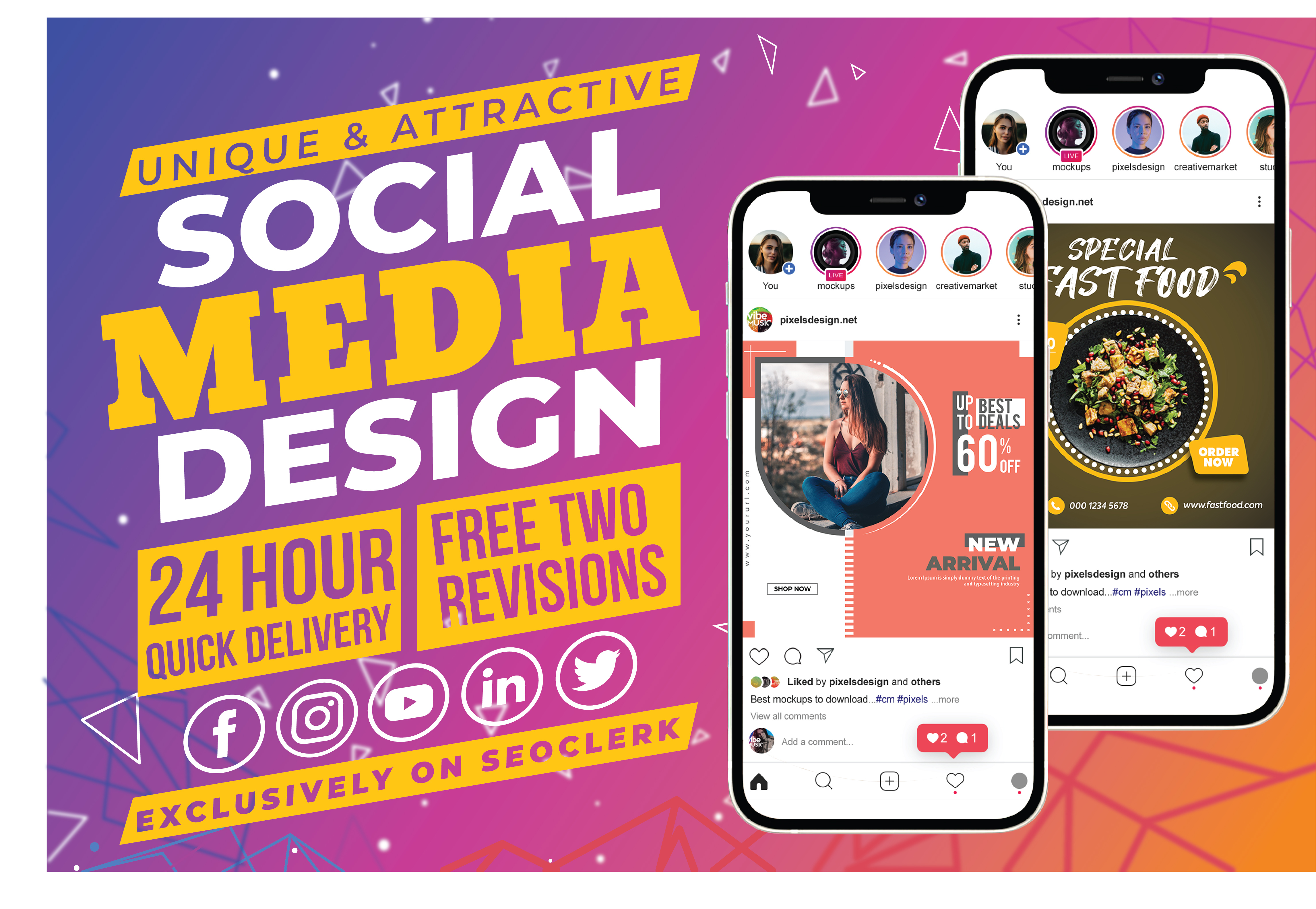 I will design unique social media posts,  banner and covers