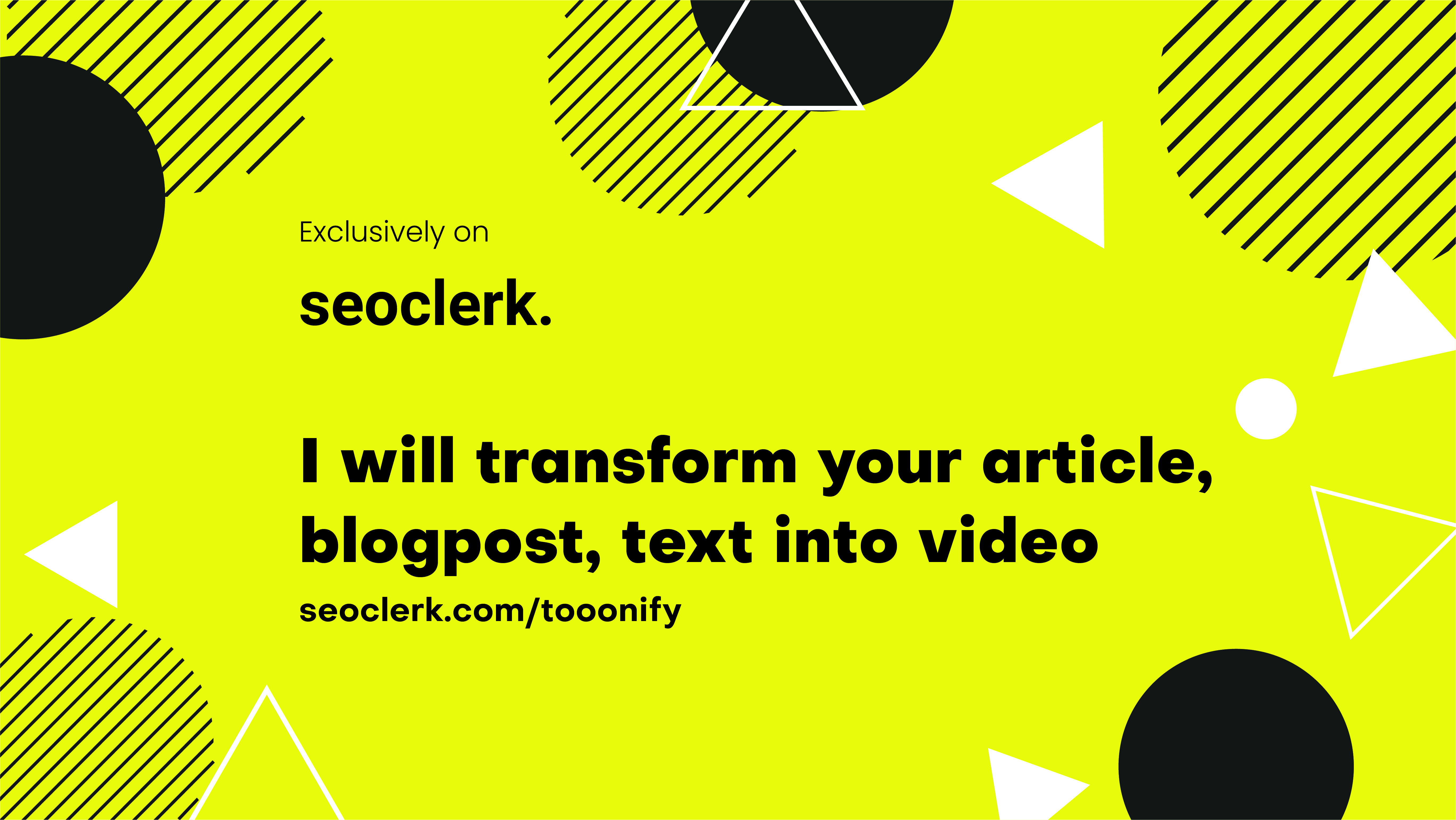 I will convert article to video, blogs and text to stunning video