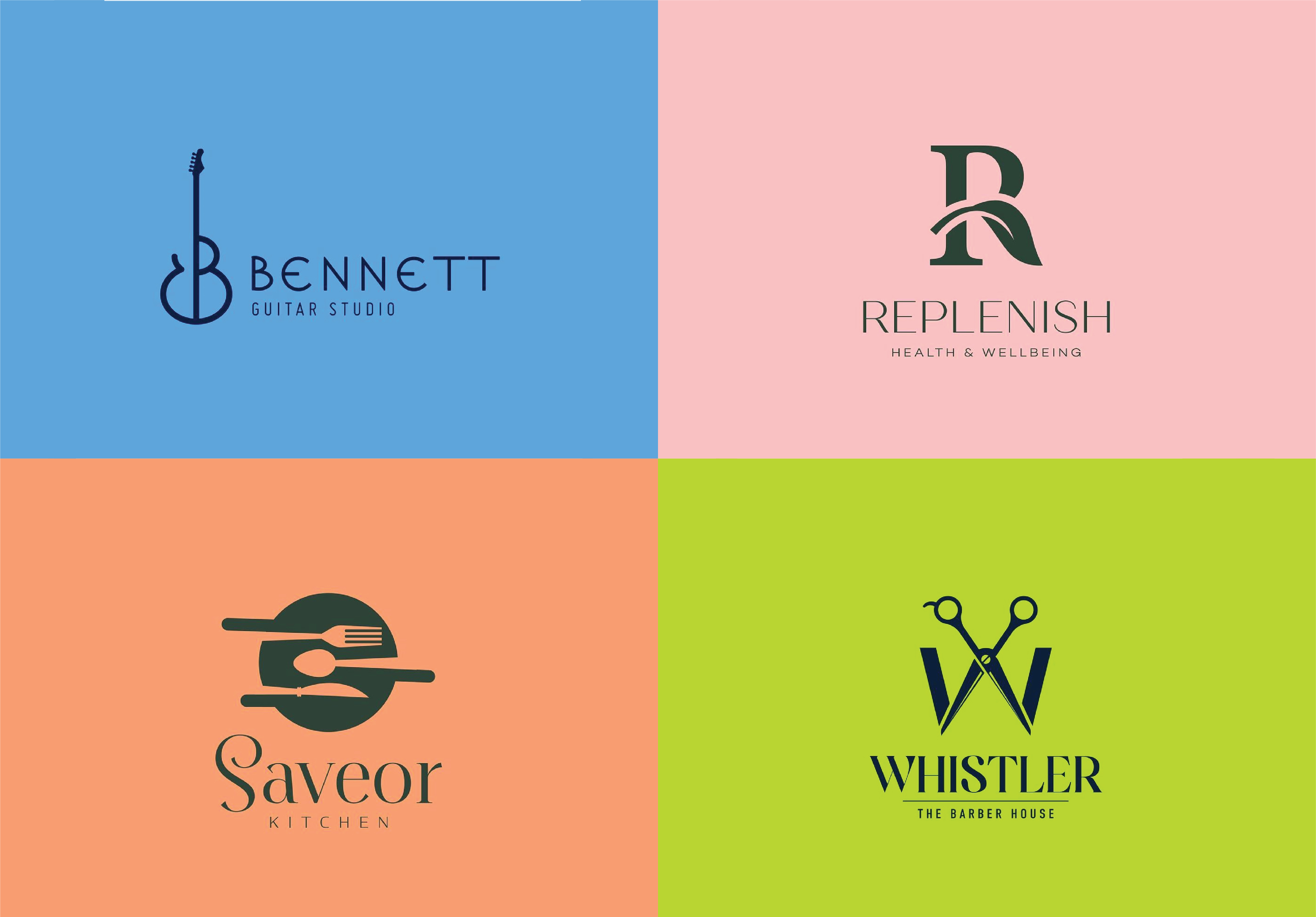 I will create 2 stunning modern minimalist logo design for your business