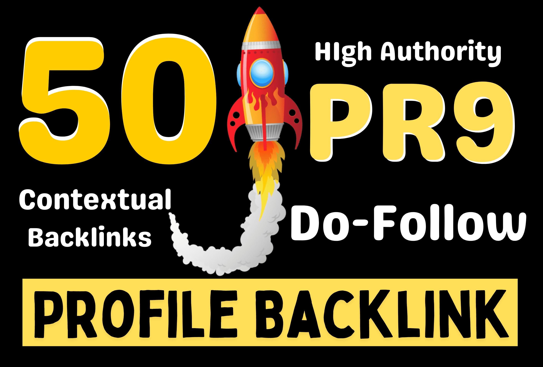 Manually Create 50 PR9 Rank Raider Do-Follow Profile Backlinks rank your site on Google Tags Based