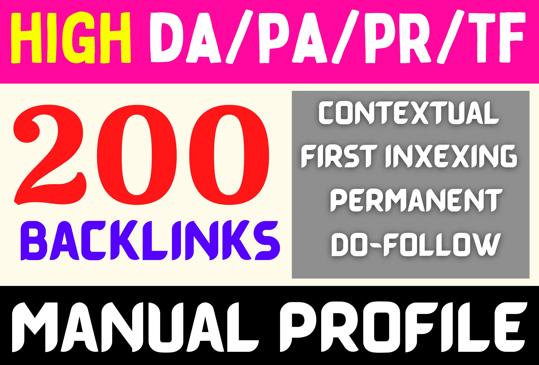 Do 200-DA50 to DA100 Do/No-Follow High Authority Profile Creation Backlinks Increase Your MOZ DA PA