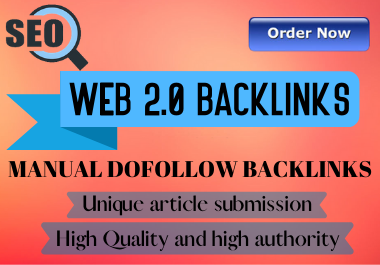 I will create 30 Web 2.0 backlinks on high authority websites