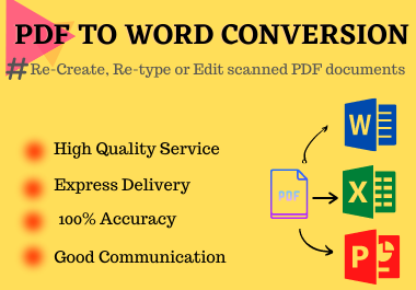 PDF to WORD/POWERPOINT/EXCEL conversion