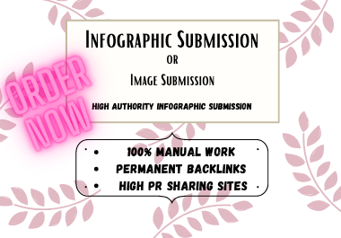 I will manually submit infographic on 25 high authority image sharing sites